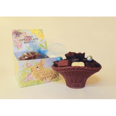 Chocolate Basket filled with Assorted Chocolates 10.5oz